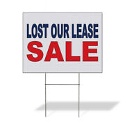 Weatherproof Yard Sign Lost Our Lease Sale Blue Red Lawn Garden Ideas
