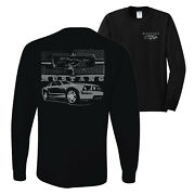 Distressed Ford Mustang Front Grill Cars And Trucks Mens Long Sleeve Shirt