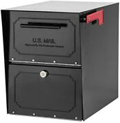 Architectural Mailboxes 6200b-10 Oasis Classic Locking Post Mount Parcel Mailbo