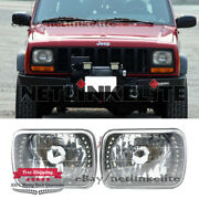 7x6 Inch Square Universal Headlamp White Driving Lamp Headlight Projector