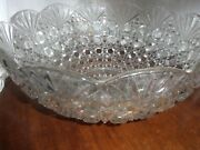 Eapg Fostoria Valkyrie / Strawberry Fan Punch Bowl 402 With 12 Heisey Cups Rare
