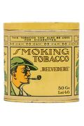 Scarce 1920s Romanian C.a.m.belvedere Litho Pocket Tobacco Tin In V Good Cond