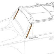 1950-1964 Vw Beetle Convertible Windshield Post Seal Retaining Strips 301888
