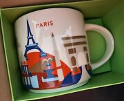 Starbucks Coffee You Are Here Collection Paris France 2019 Mug Cup 14 Oz New
