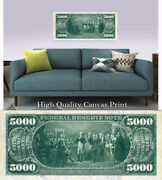 Large Poster 5000 Series 1918 Reverse 16x 40 Printed On Canvas