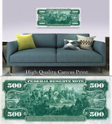 Large Poster 500 Series 1918 Reverse 16x 40 Printed On Canvas
