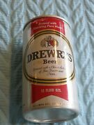 Silver/whte/red/black Drewrys Beer Can Pull Tab Open 12 Oz Empty Aluminum Bx 9