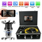 9 50m Wifi 38 Led Pipe Inspection Video Camera Waterproof Drain Sewer System Ss