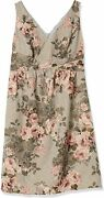Adrianna Papell Womenand039s Sleeveless Floral Dress With Pleated Waist