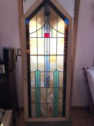 """Large Leaded Stained Glass Window 29-1/2"""" X 79"""""""