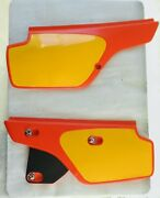 Honda Xr600r.xr350r-1985.left And Right Side Cover / Panel. Flash Red R-119