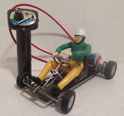 Vintage 1960s Marx Battery Operated Race-a-kart Remote Control Nice Box Go Kart