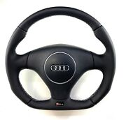 Audi Rs4 B5 Flat Bottom Steering Wheel Reshaped Full Smooth Leather New Leather