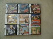Lot Of 9 Nintendo Ds Games Disney Cars 2 Sonny With A Chance Pampered Pets 2