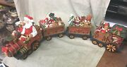 Traditional Santa Train Christmas Decoration 4 Piece Set Made In China