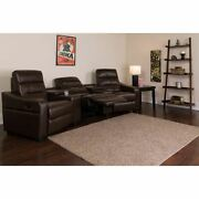 Durable Theatre Seats   Leathersoft Recliningandnbsphome Theatre Sectional Sofa