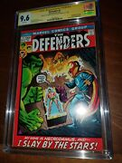 Defenders 1 Cgc Ss 9.6 White Pages Sal Buscema Roy Thomas 1972