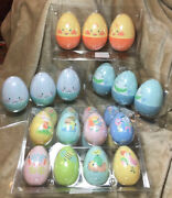 Spritz Large And Med Plastic Refillable Painted Easter Eggs 9l Glitter Eggs And 16m