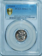 1920 S Pcgs Ms64fb Full Bands Mercury Dime Great Color
