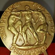 1938 Society Of Medalists 17 Pleasure And Pain Nudes Calder Bronze Xx High Relief