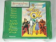 The Wizard Of Oz Remember When Retro Movie Posters Puzzle Sealed 1000 Pc