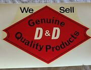 Rare 1960's 1970's Water Slide Decal Pair Dandd Motorcycle Parts Chopper Bobber