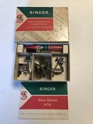 Vintage Singer Sewing Machine Attachments For Class 404 Machines + Manual