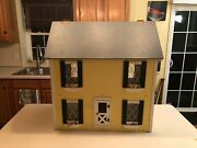 Large Doll House Factory Wood Dollhouse 26 X 17 X 28 Staircase Hinged Roof