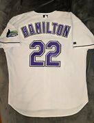 Josh Hamilton Russell Athletic Authentic Tampa Bay Devil Rays Jersey 52 Signed