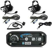 Rugged Radios Rrp696 Black Out Series Intercom 2 Place Kit With Behind The Head