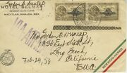 Mexico Airmail Cover With Pair C46 Overprint Pemex Oil And Bottom Selvage