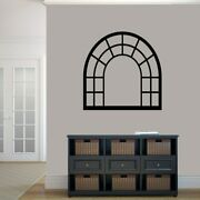 Arched Window Frame Wall Decal - Windows And Doors, Entryway, Wall Accent, Decor