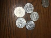 Five Coins Great Shape 40 Silver Kennedy Halves 65-69 Cheap Silver