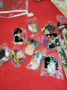 Snow White And The Seven Dwarfs Collectible Keychain Plush Heads Mcdonalds Toys