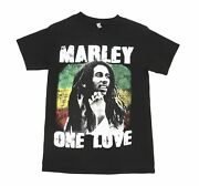 Men's Bob Marley Vintage Graphic T-shirt One Love Size Small