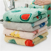 Absorb Water Quickly Double-sided Printed Rag Cartoon Dish Coral Fleece
