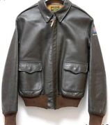 Real Mccoy Horsehide A-2 Flight Jacket Size 40 Brown Color Early Classic Model