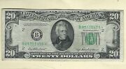 1950 B Star Note 20 Currency Frn Paper Money Circulated Replacement Note