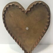 Martha Stewart By Mail Large Big Heart Copper Cookie Cutter Ruffled Free Ship