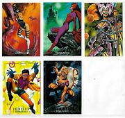 1992 Marvel Masterpieces Lost Cards Set 5 Lm-1 To Lm-5 Nm/mt