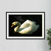 Swan Lovers Art Print - Poster Quote Gift - Swans