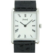 Piaget Solid Gold Manual Wrist Watch White Dial Ladies Watch Pre Owned [u0303]