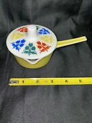 Villeroy And Boch Porcelain Made In Luxembourg Mini Yellow Pot With Lid
