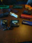 Vintage Louis Marx Train Set With Tracks And Transformers. Good Used Shape