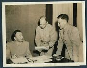 Wwii Allied Col Charles Poletti And Members Of His Staff Rome 1944 Vtg Photo Y 102