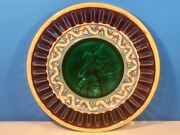 Antique Wedgwood Majolica Plate C.1800and039s Lady With Bowl Of Fruit