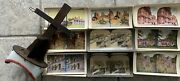 120 + Stereoview Keystone Picture Cards + Stereoscope Viewer Us World