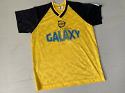 Rare Vtg 90s Los Angeles Galaxy Major League Soccer Yellow Jersey 4 Size Large