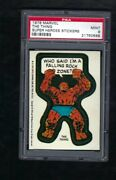 1976 Marvel Super Heroes Stickers The Thingl Psa 9 Mint