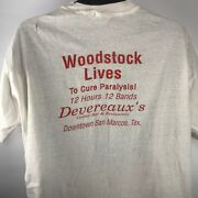 Vintage 90and039s Sz Xl T Shirt Woodstock Lives Devereauxand039s Oyster Bar San Marcos Tx